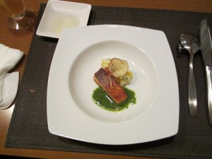魚バジルソース