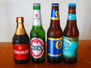 左からベルギー,ドイツ、オーストラリア、ハワイモビール